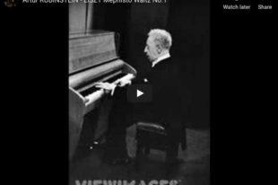 Liszt - Mephisto Waltz No 1 in A major - Rubinstein, Piano