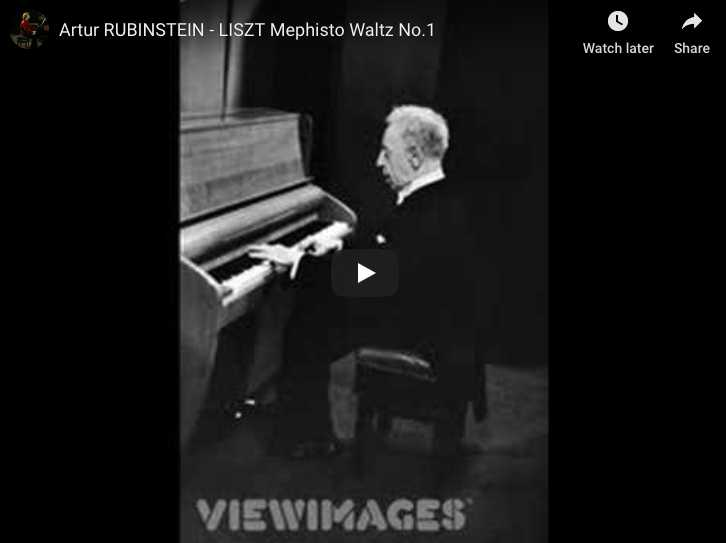 Liszt - Mephisto Waltz No 1 in A major - Rubinstein, Piano