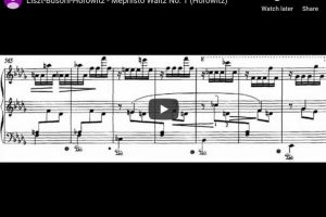 Liszt – Mephisto Waltz No 1 in A major – Horowitz, Piano