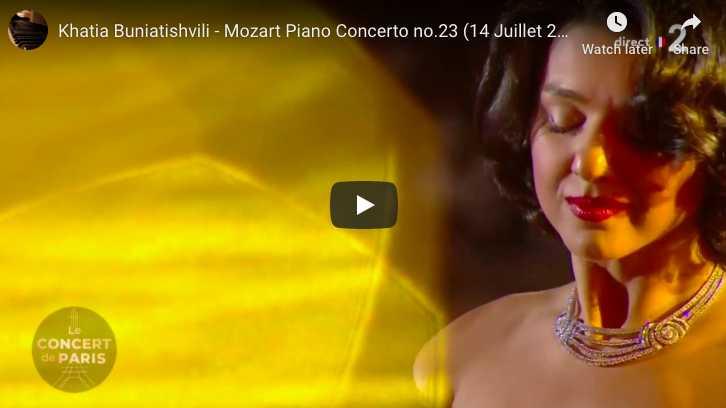 Mozart - Piano Concerto No 23 in A major (Adagio) - Buniatishvili, Piano