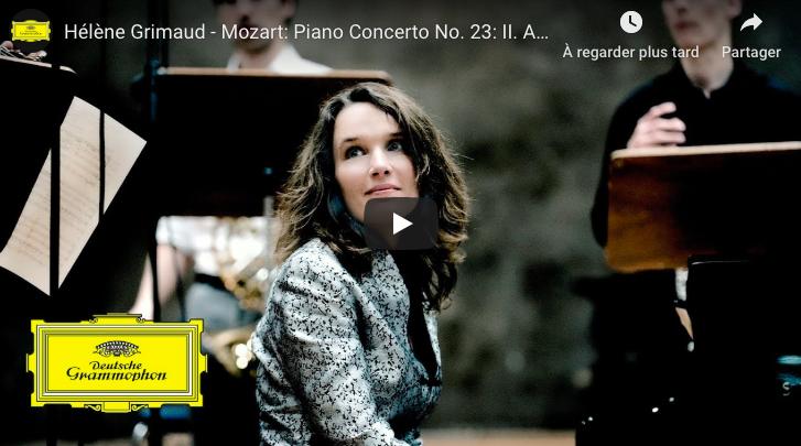 Mozart - Piano Concerto No 23 in A major (Adagio) - Grimaud, Piano