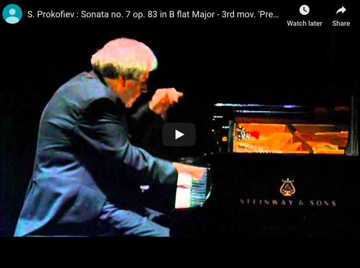 Grigory Sokolov performs the third and last movement from Prokofiev's Sonata No. 7 in B-flat major