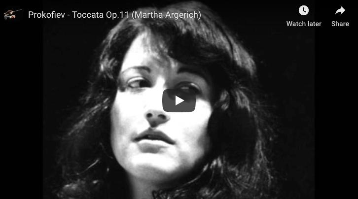 Prokofiev - Toccata in D Minor - Argerich, Piano
