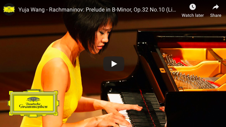 Yuja Wang performs Rachmaninoff's Prelude in B-Minor, Op.32 No 10 for piano.