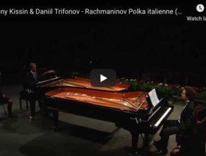 Rachmaninov - Polka Italienne for 2 Pianos - Kissin, Trifonov