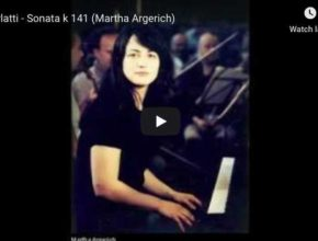 The Argentine pianist Martha Argerich performs Domenico Scarlatti Sonata in D minor K 141