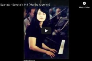Scarlatti - Sonata in D Minor - Martha Argerich, Piano