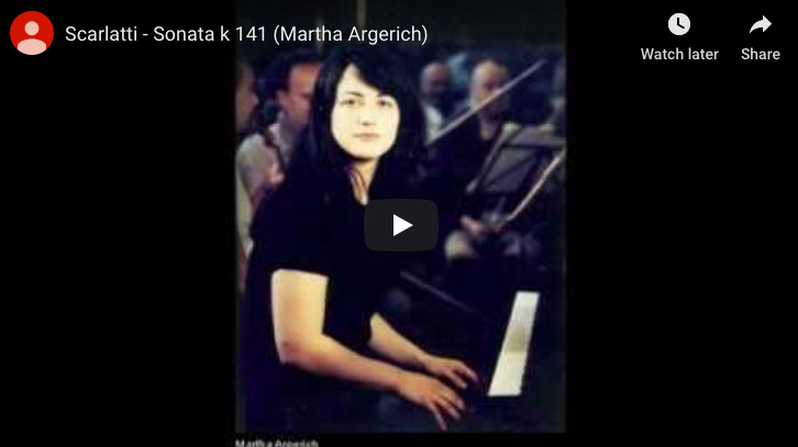Scarlatti - Sonata in D minor K 141 - Argerich, Piano