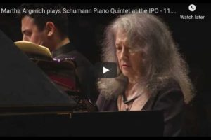 Schumann – Piano Quintet – Argerich, Piano; Israel Philharmonic Orchestra