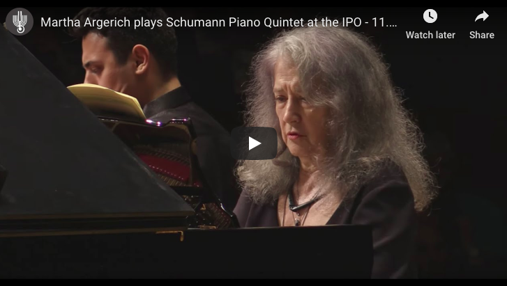 Schumann - Piano Quintet - Argerich, Piano; Israel Philharmonic Orchestra