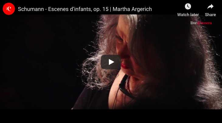 Martha Argerich performs Träumerei, the 7th piece from Robert Schumann's Kinderszenen