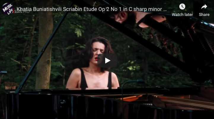 Scriabin - Etude in C-sharp minor, Op. 2 No 1 - Buniatishvili, Piano