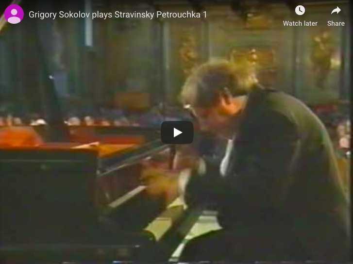 Stravinsky - Trois Mouvements de Petrouchka - Sokolov, Piano