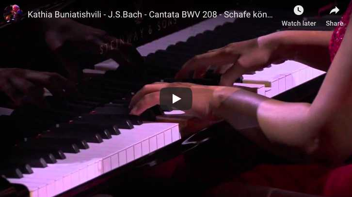 Bach-Petri - Sheep may safely graze - Buniatishvili, Piano