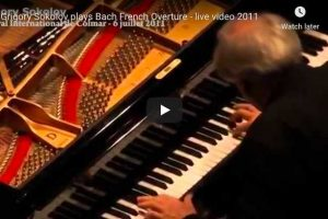 Bach – Overture in the French style, BWV 831 – Sokolov, Piano