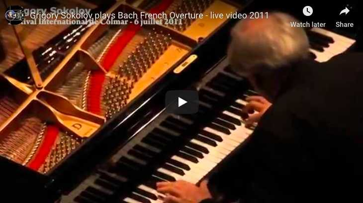 Bach - Overture in the French style, BWV 831 - Sokolov, Piano