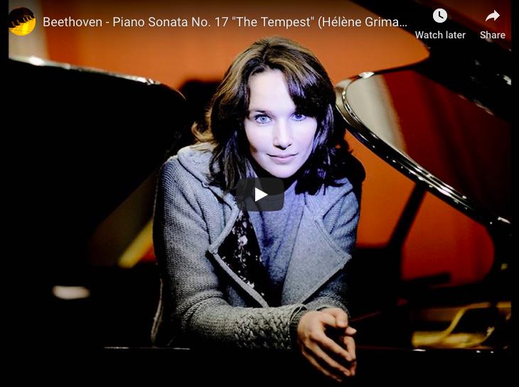 Beethoven - Sonata No 17 in D minor, Allegretto - Grimaud, Piano