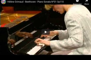 Beethoven - Sonata No 31 in A-Flat Major - Grimaud, Piano