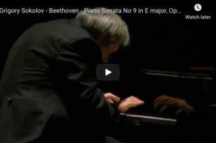 Beethoven - Piano Sonata No 9 in E Major, Rondo - Sokolov, Piano