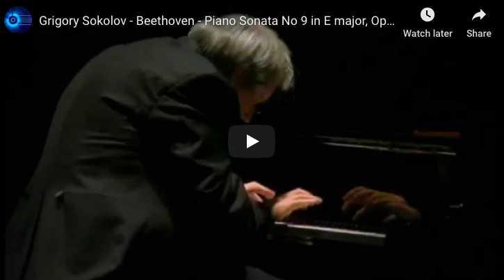 Beethoven - Sonata No 9 in E Major, Rondo - Sokolov, Piano