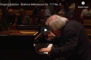 Brahms - Intermezzo Op 117 No 2 - Sokolov, Piano