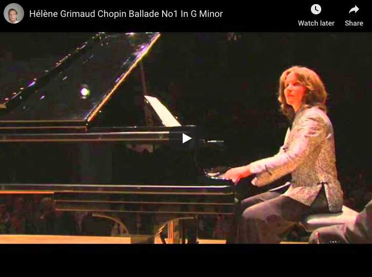 Chopin - Ballade No 1 in G minor - Grimaud, Piano