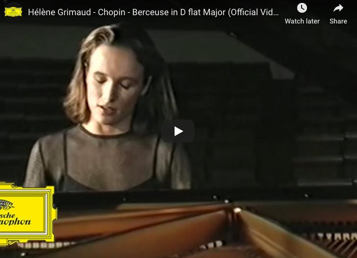 Chopin - Berceuse in D-Flat Major - Grimaud, Piano