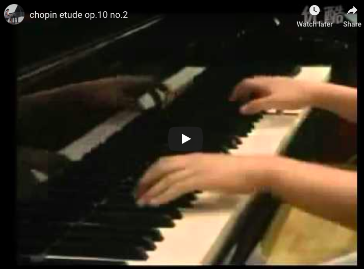 Chopin - Étude Op 10 No 2 - Wang, Piano