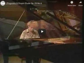 Chopin - Etude Op 25 No 6 - Pogorelich, Piano
