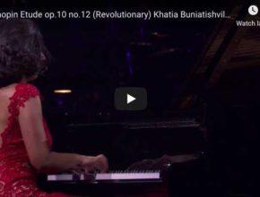 Chopin – Étude Revolutionary No 12 in C Minor, - Buniatishvili, Piano