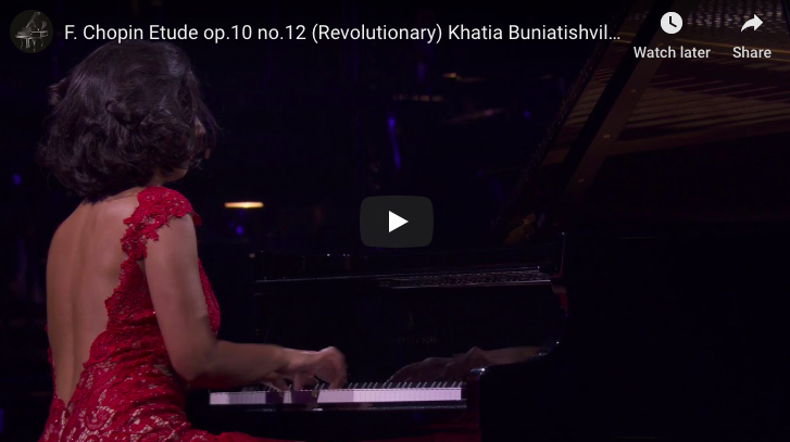 Chopin – Étude Revolutionary No 12 in C Minor, - Buniatishvili, Piano