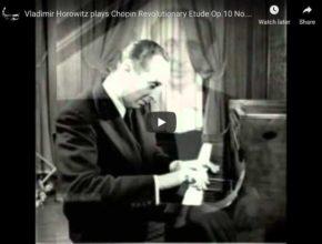Chopin – Étude Revolutionary No 12 in C Minor - Horowitz, Piano