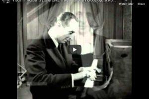 Chopin – Étude Revolutionary No 12 in C Minor – Horowitz, Piano