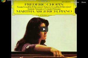 Chopin – Grande Polonaise Brillante – Argerich, Piano
