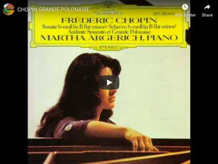Chopin - Grande Polonaise Brillante - Argerich, Piano