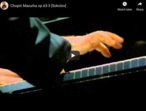 Chopin - Mazurka No 41 in C-Sharp Minor - Sokolov, Piano