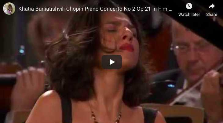 Chopin - Piano Concerto No 2 in F Minor - Buniatishvili, Piano