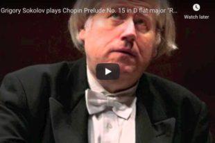 Chopin - Prelude No. 15 (Raindrop) - Sokolov, Piano