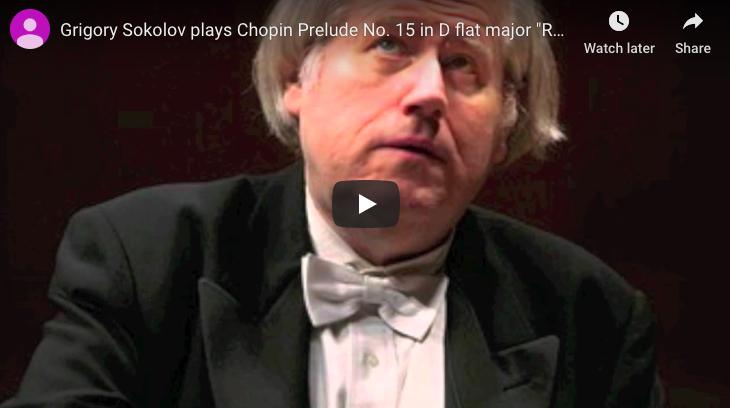 Chopin - Prelude No 15 in D-Flat Major (Raindrop) - Sokolov, Piano