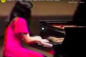 Chopin – Prelude No 24 in D Minor – Argerich, Piano