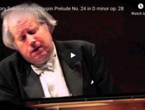 Chopin - Prelude No 24 in D Minor - Grigory Sokolov, Piano