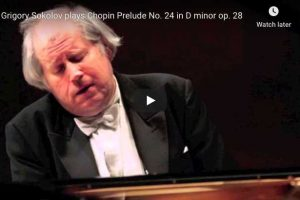 Chopin – Prelude No. 24 – Grigory Sokolov, Piano