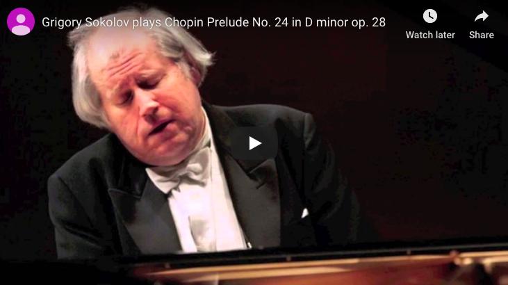 Chopin - Prelude No 24 in D Minor - Sokolov, Piano
