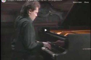Chopin – Prelude No. 25 – Ivo Pogorelich, Piano
