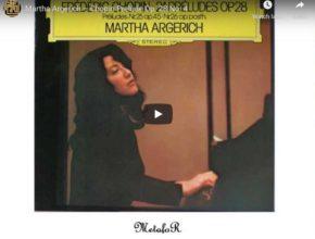Chopin - Prelude No 4 in E Minor - Argerich, Piano