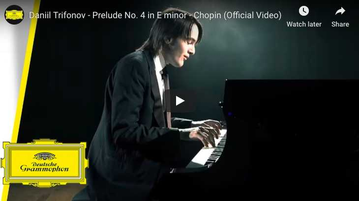 Chopin - Prelude No 4 in E Minor - Trifonov, Piano