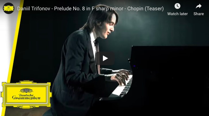 Chopin - Prelude No 8 in F-Sharp Minor - Trifonov, Piano