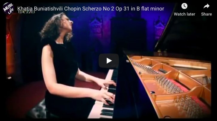 Chopin - Scherzo No 2 in B-Flat Minor - Buniatishvili, Piano