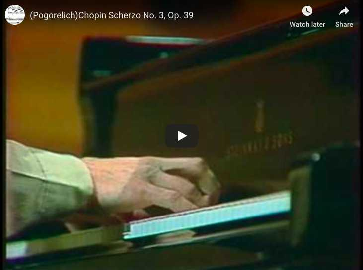 Chopin - Scherzo No 3 in C-sharp minor - Pogorelich, Piano