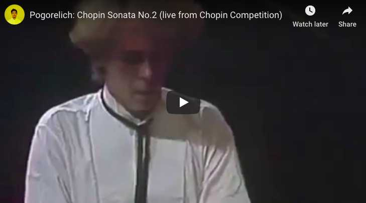 Chopin - Sonata No 2 in B-Flat Minor - Pogorelich, Piano
